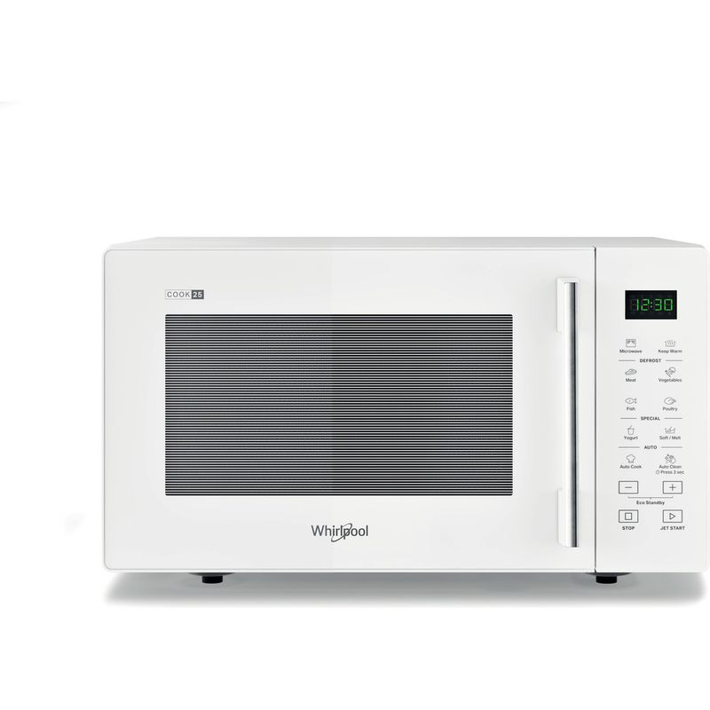 Whirlpool-Four-micro-ondes-Pose-libre-MWP-251-W-Blanc-Electronique-25-Micro-ondes-uniquement-900-Frontal