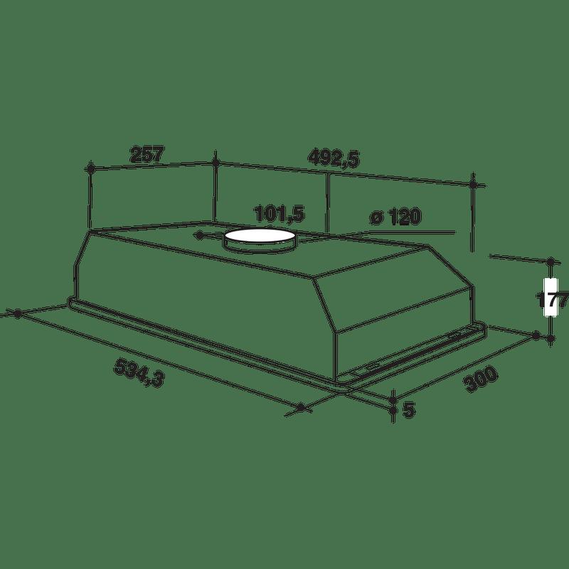 Whirlpool-Hotte-Encastrable-WCT-64-FLS-K-Noir-Encastrable-Mecanique-Technical-drawing