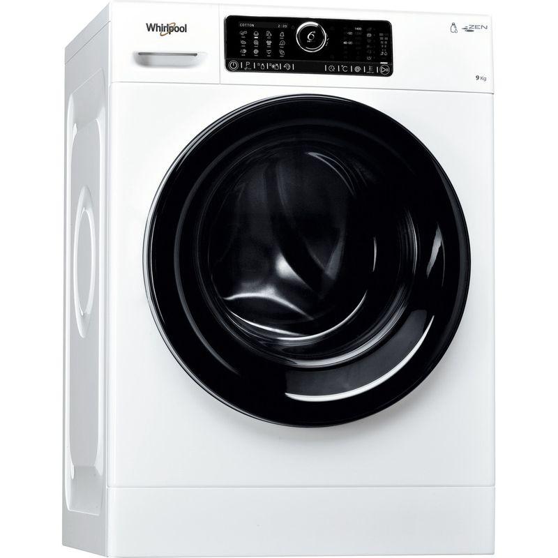 Whirlpool-Lave-linge-Pose-libre-ZENDOSE9-Blanc-Lave-linge-frontal-A----Perspective