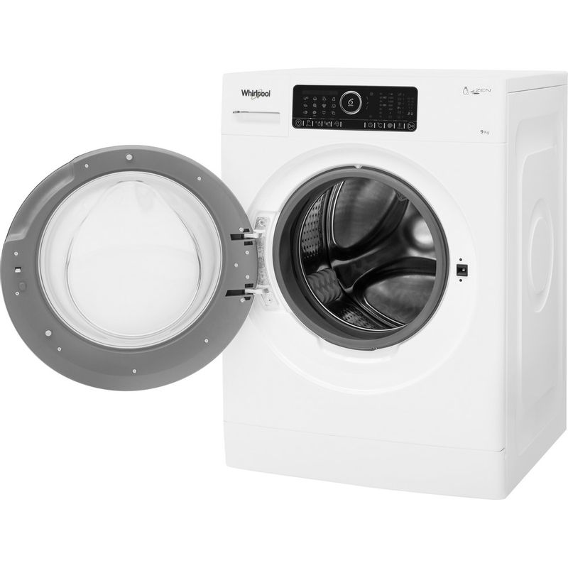 Whirlpool-Lave-linge-Pose-libre-ZENDOSE9-Blanc-Lave-linge-frontal-A----Perspective-open