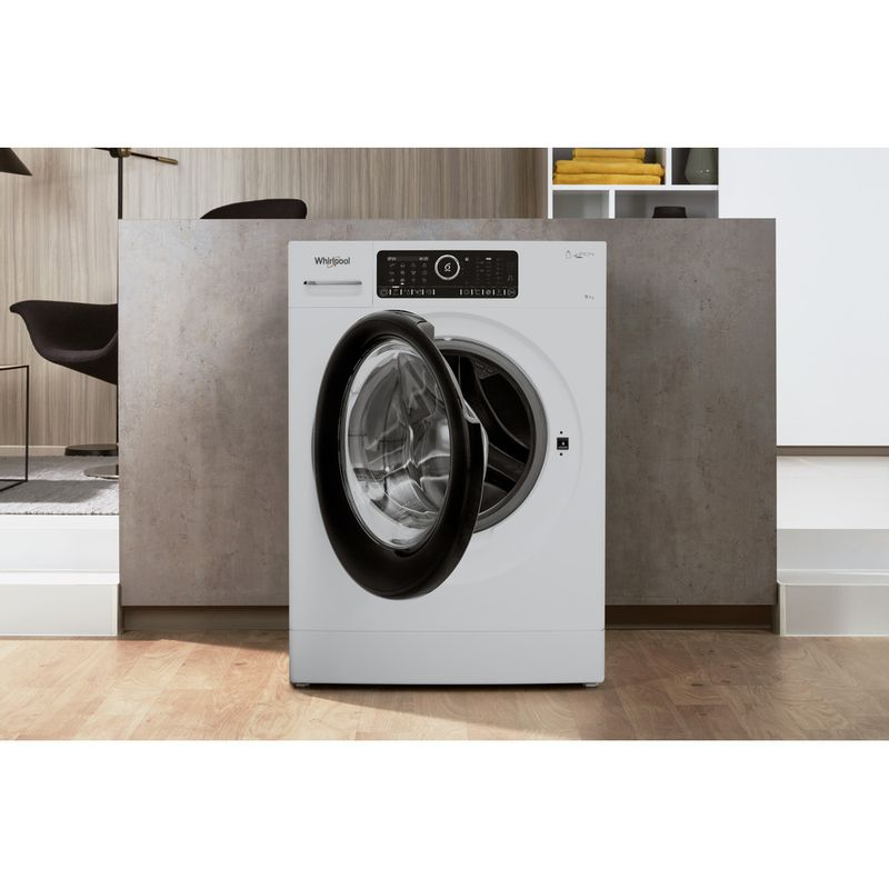 Whirlpool-Lave-linge-Pose-libre-ZENDOSE9-Blanc-Lave-linge-frontal-A----Lifestyle-frontal-open