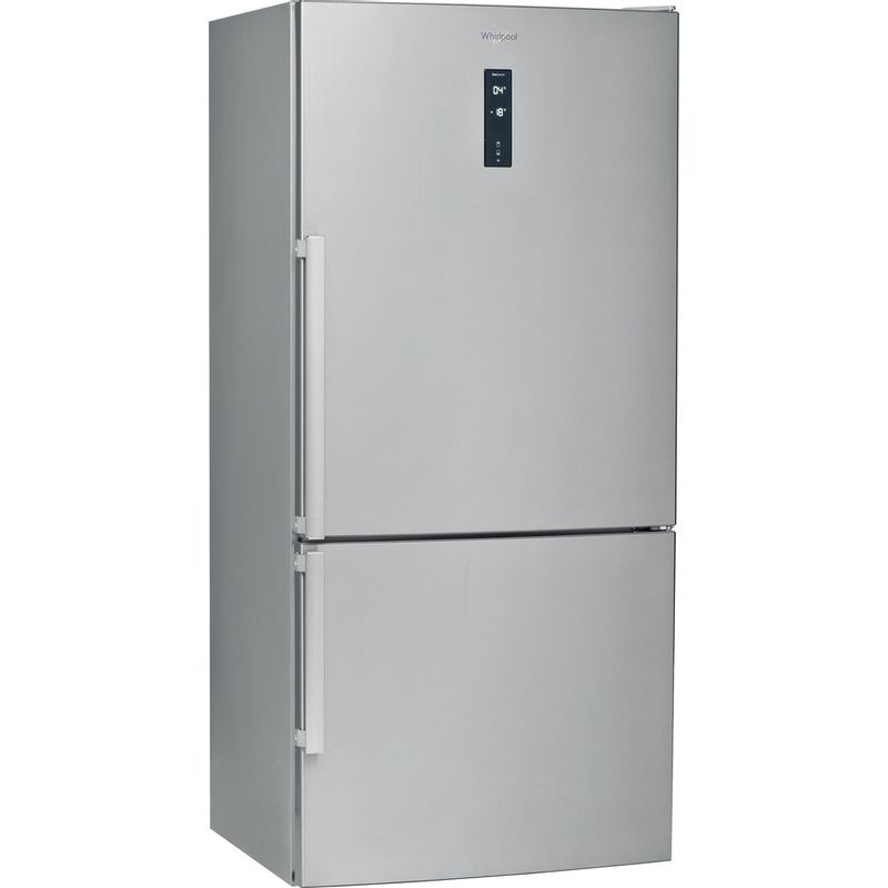 Whirlpool-Combine-refrigerateur-congelateur-Pose-libre-W84BE-72-X-Inox-2-portes-Perspective