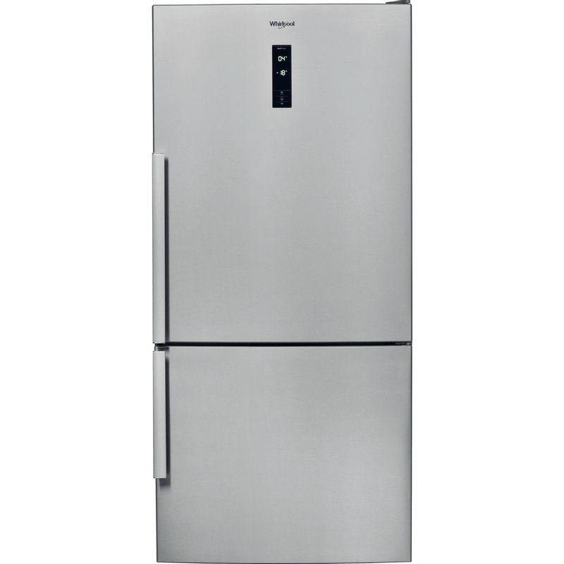 Whirlpool-Combine-refrigerateur-congelateur-Pose-libre-W84BE-72-X-Inox-2-portes-Frontal