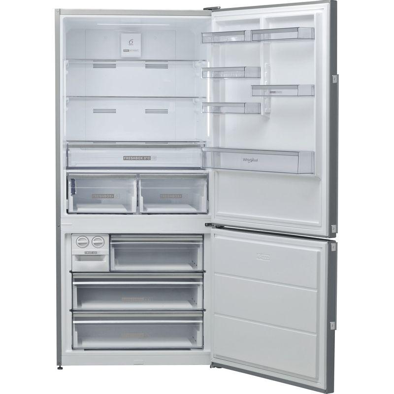 Whirlpool-Combine-refrigerateur-congelateur-Pose-libre-W84BE-72-X-Inox-2-portes-Frontal-open