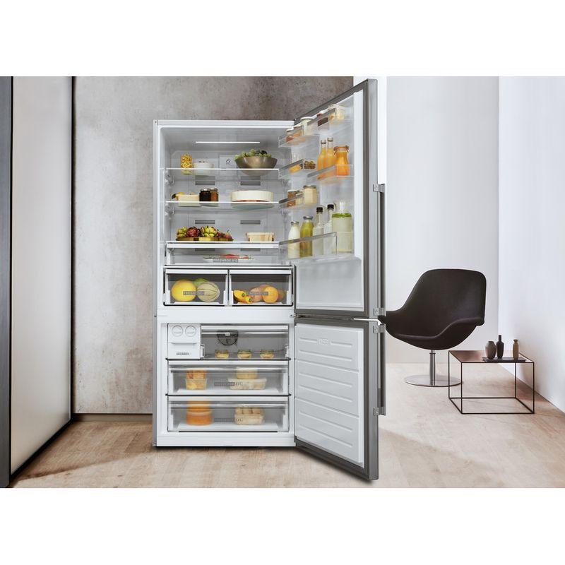 Whirlpool-Combine-refrigerateur-congelateur-Pose-libre-W84BE-72-X-Inox-2-portes-Lifestyle-frontal-open