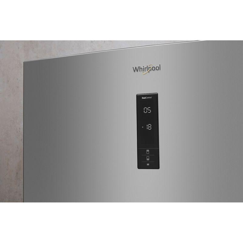 Whirlpool-Combine-refrigerateur-congelateur-Pose-libre-W84BE-72-X-Inox-2-portes-Lifestyle-control-panel