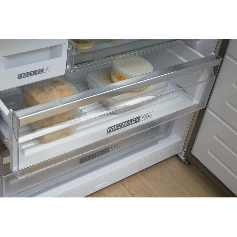 Whirlpool-Combine-refrigerateur-congelateur-Pose-libre-W84BE-72-X-Inox-2-portes-Drawer