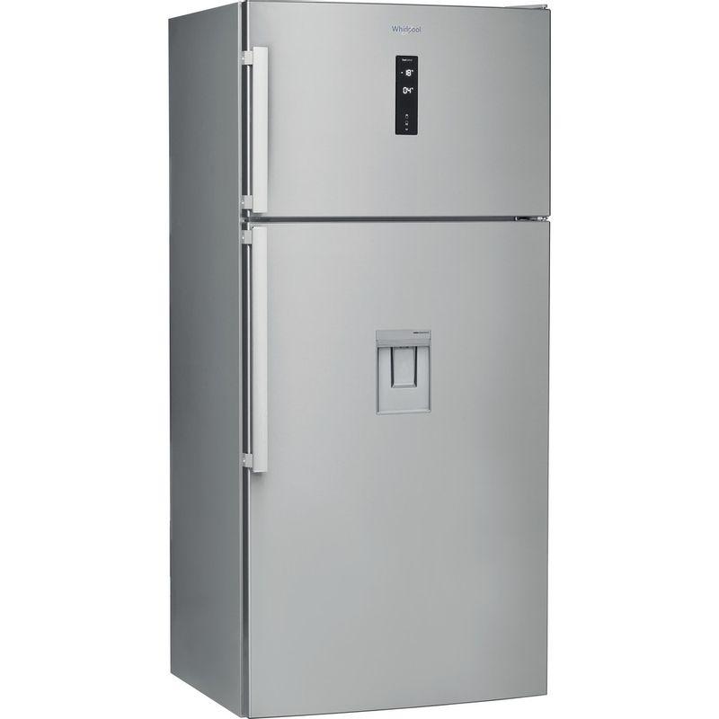 Whirlpool-Combine-refrigerateur-congelateur-Pose-libre-W84TE-72-X-AQUA-Inox-2-portes-Perspective