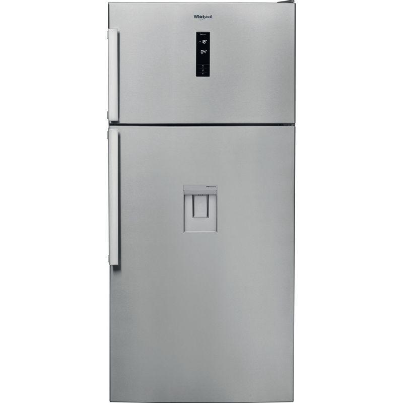Whirlpool-Combine-refrigerateur-congelateur-Pose-libre-W84TE-72-X-AQUA-Inox-2-portes-Frontal