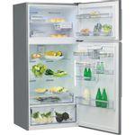 Whirlpool-Combine-refrigerateur-congelateur-Pose-libre-W84TE-72-X-AQUA-Inox-2-portes-Perspective-open