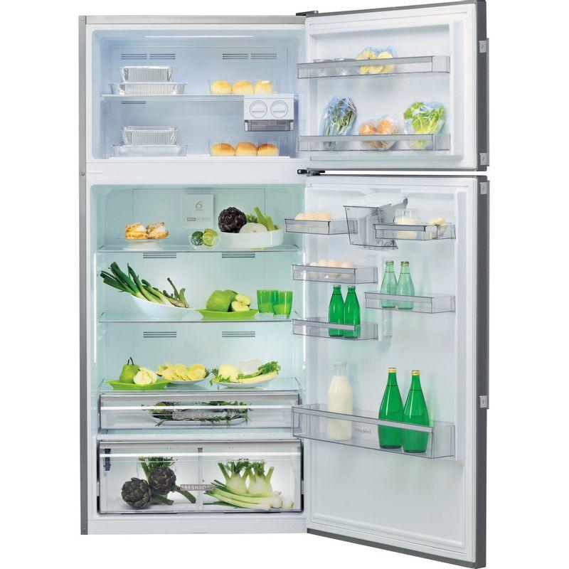 Whirlpool-Combine-refrigerateur-congelateur-Pose-libre-W84TE-72-X-AQUA-Inox-2-portes-Frontal-open