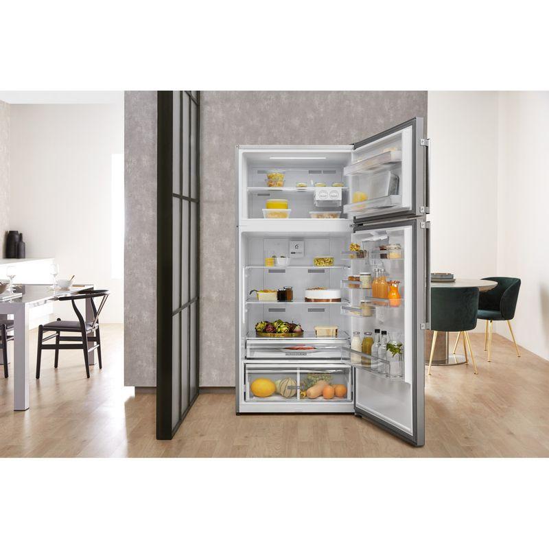 Whirlpool-Combine-refrigerateur-congelateur-Pose-libre-W84TE-72-X-AQUA-Inox-2-portes-Lifestyle-frontal-open