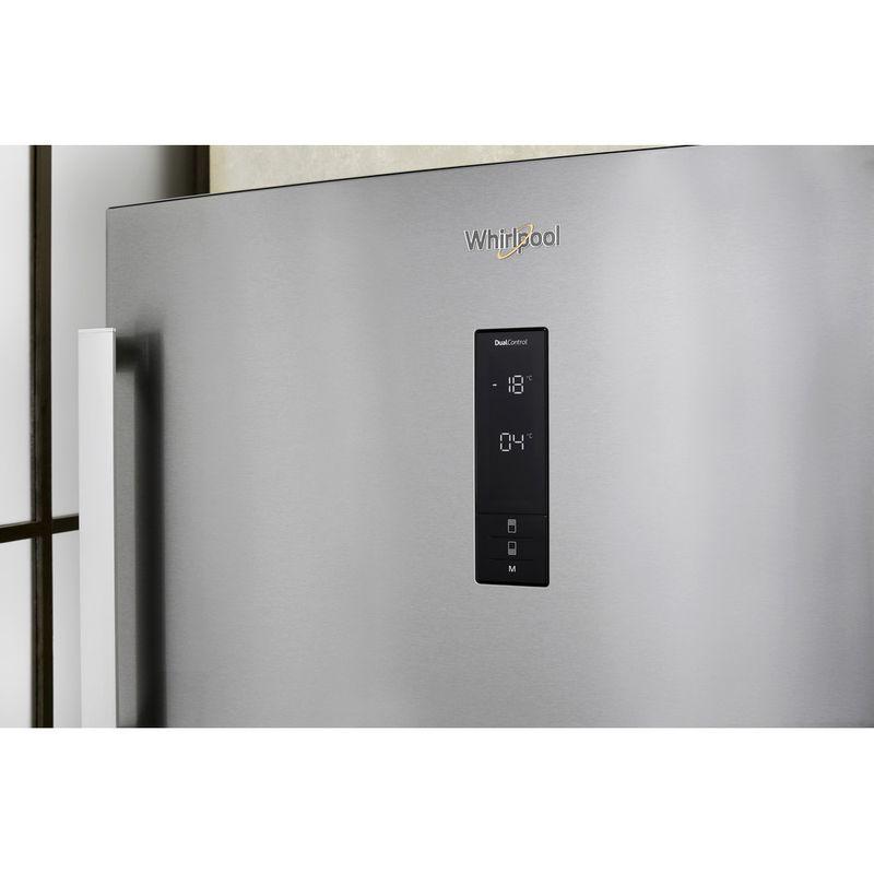 Whirlpool-Combine-refrigerateur-congelateur-Pose-libre-W84TE-72-X-AQUA-Inox-2-portes-Lifestyle-control-panel