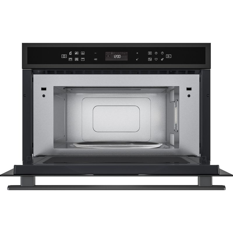 Whirlpool-Four-micro-ondes-Encastrable-W6-MD440-BSS-Acier-noir-Electronique-31-Micro-ondes---gril-1000-Frontal-open