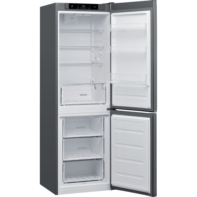 Whirlpool-Combine-refrigerateur-congelateur-Pose-libre-W5-821C-OX-Optic-Inox-2-portes-Perspective-open