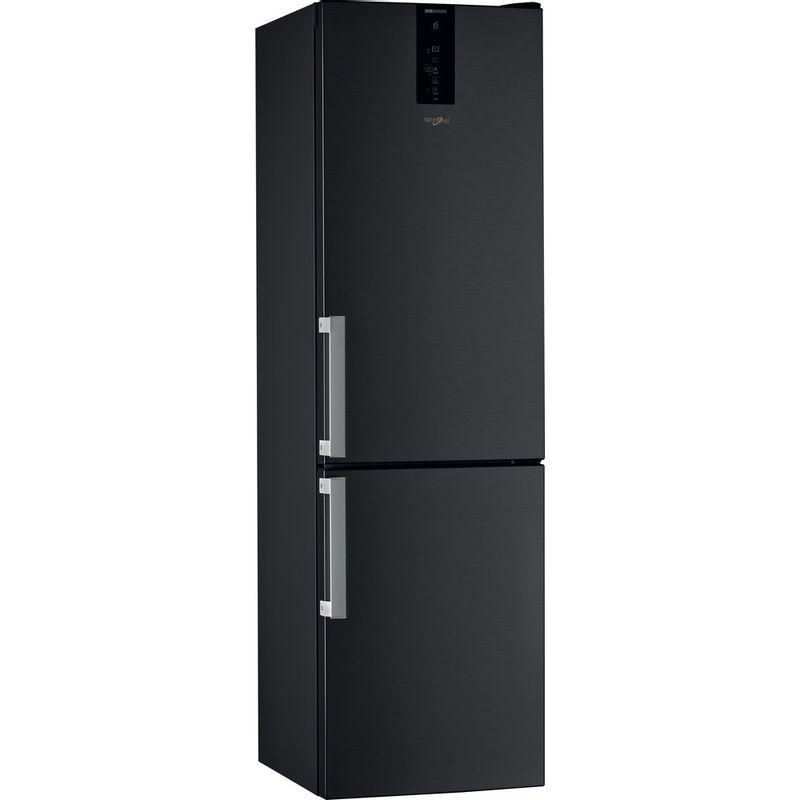 Whirlpool-Combine-refrigerateur-congelateur-Pose-libre-W9-931D-KS-H-Noir-Inox-2-portes-Perspective