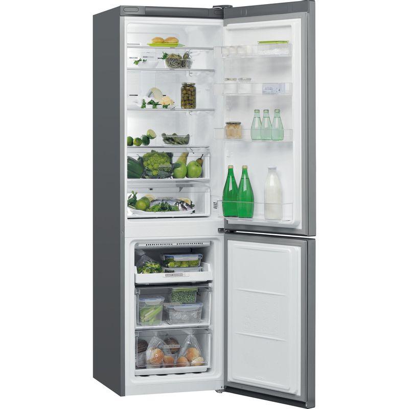 Whirlpool-Combine-refrigerateur-congelateur-Pose-libre-W7-911O-OX-Optic-Inox-2-portes-Perspective-open