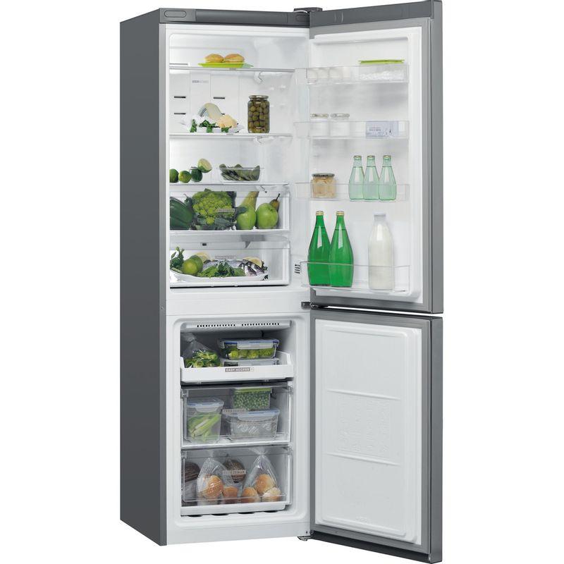 Whirlpool-Combine-refrigerateur-congelateur-Pose-libre-W7-821O-OX-Optic-Inox-2-portes-Perspective-open