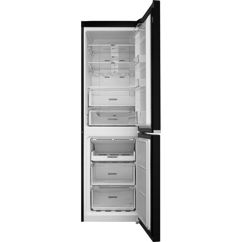 Whirlpool-Combine-refrigerateur-congelateur-Pose-libre-W7-821O-K-Noir-2-portes-Frontal-open