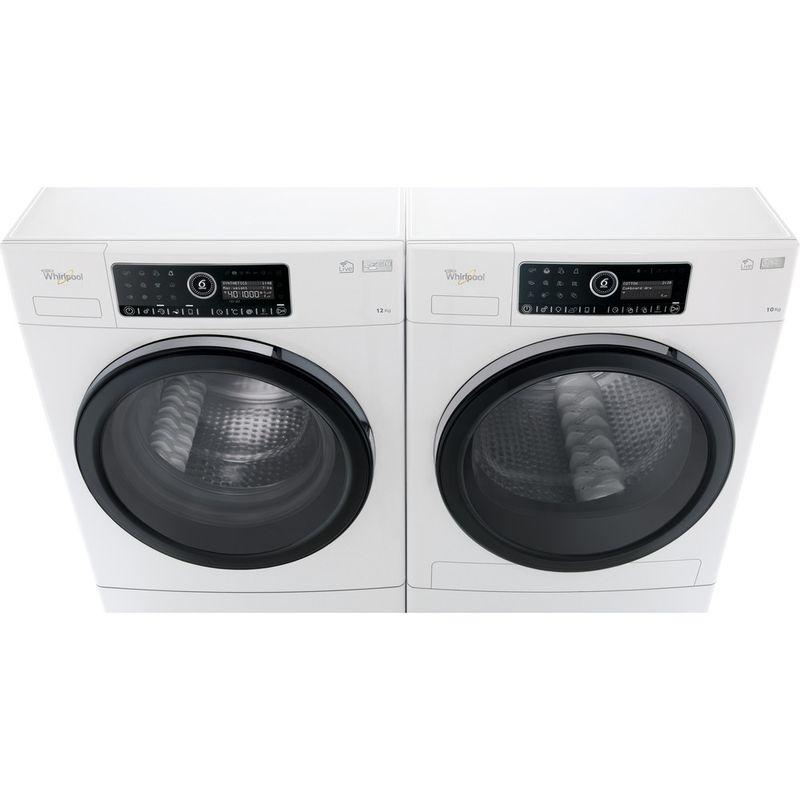 Whirlpool-Lave-linge-Pose-libre-ZENDOSE12-Blanc-Lave-linge-frontal-A----Frontal