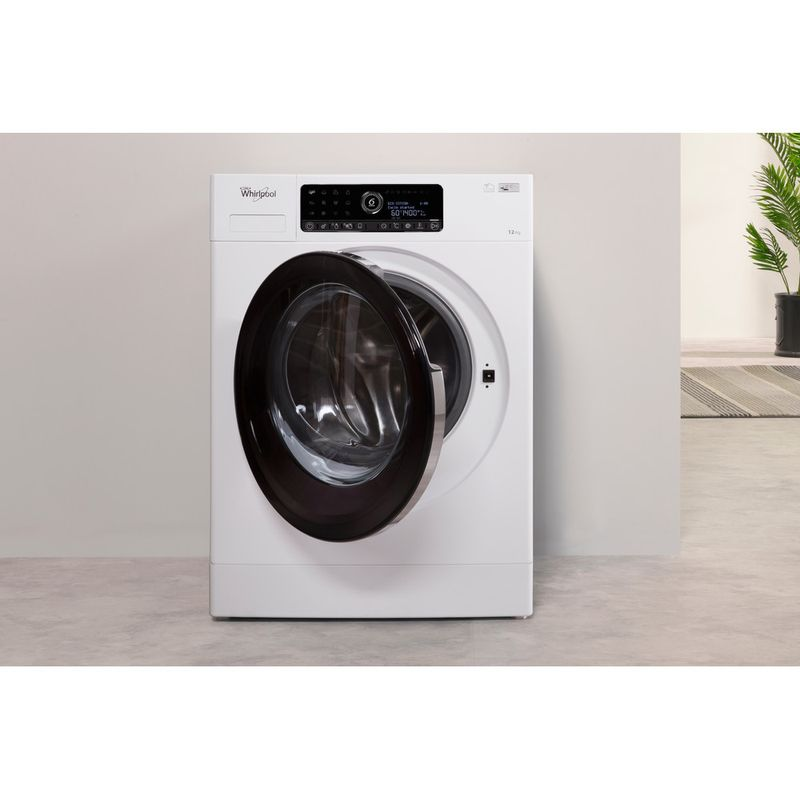 Whirlpool-Lave-linge-Pose-libre-ZENDOSE12-Blanc-Lave-linge-frontal-A----Lifestyle-frontal-open