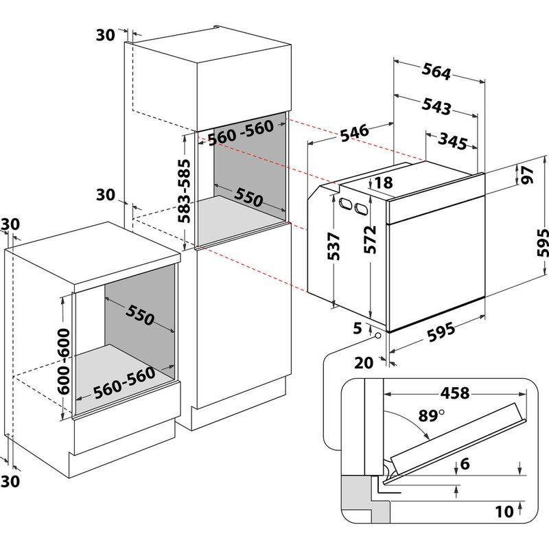 Whirlpool-Four-Encastrable-AKP9-140-C-IX-Electrique-A-Technical-drawing
