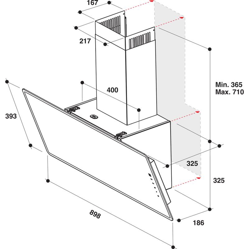 Whirlpool-Hotte-Encastrable-WHVF-93F-LT-K-Noir-Pose-libre-Electronique-Technical-drawing