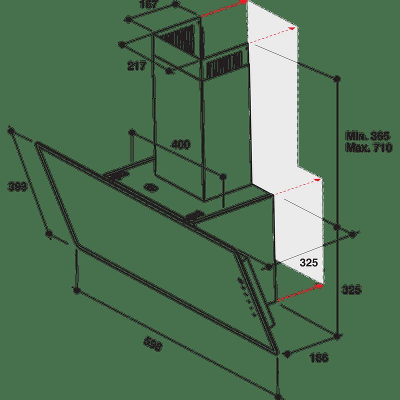 Whirlpool-Hotte-Encastrable-WHVF-63F-LT-K-Noir-Pose-libre-Electronique-Technical-drawing