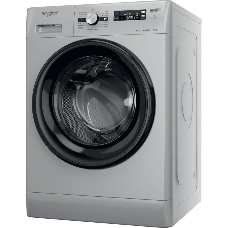 Whirlpool-Lave-linge-Pose-libre-FFS-9248-SB-FR-Argent-Lave-linge-frontal-C-Perspective