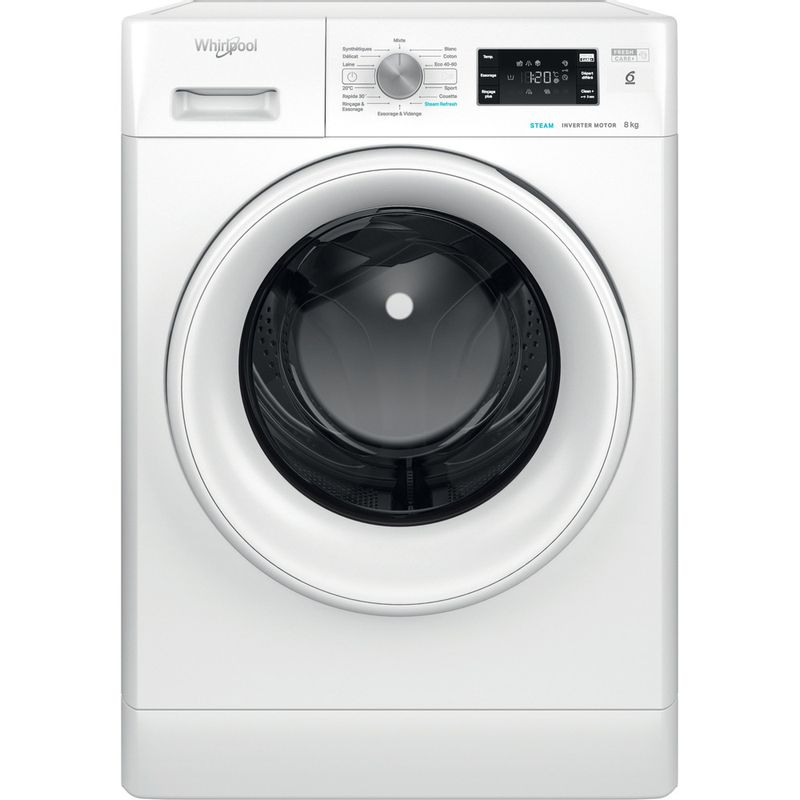 Whirlpool-Lave-linge-Pose-libre-FFBS-8448-WV-FR-Blanc-Lave-linge-frontal-C-Frontal