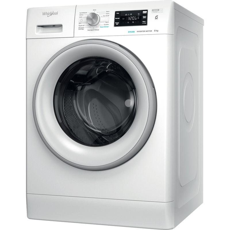 Whirlpool-Lave-linge-Pose-libre-FFBC-8448-SV-FR-Blanc-Lave-linge-frontal-C-Perspective