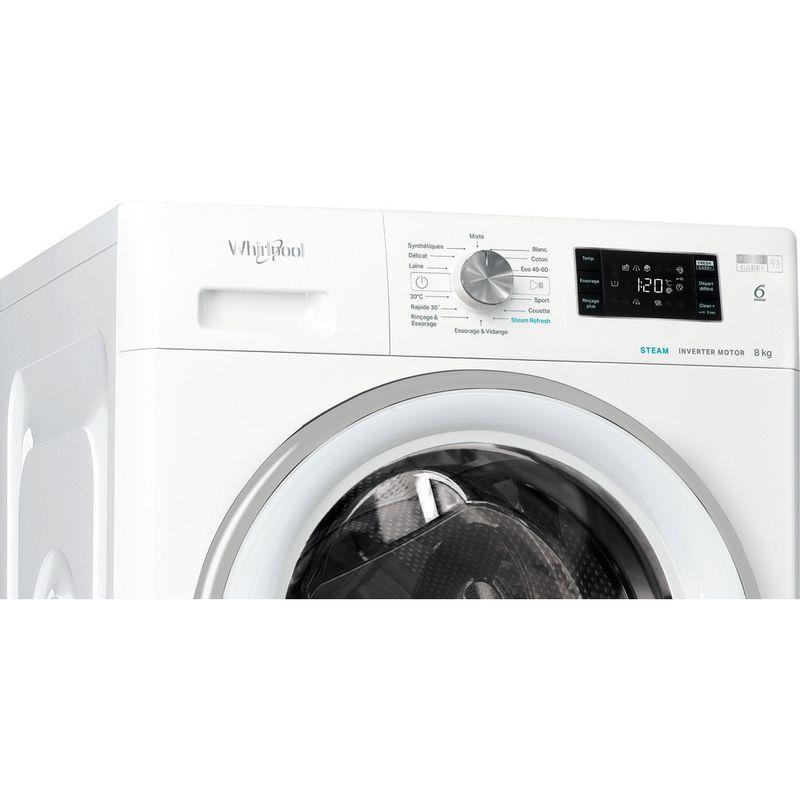 Whirlpool-Lave-linge-Pose-libre-FFBC-8448-SV-FR-Blanc-Lave-linge-frontal-C-Control-panel