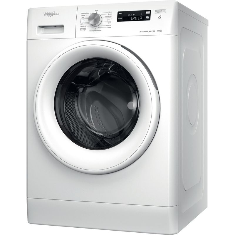Whirlpool-Lave-linge-Pose-libre-FFSPL-9248-W-FR-Blanc-Lave-linge-frontal-C-Perspective