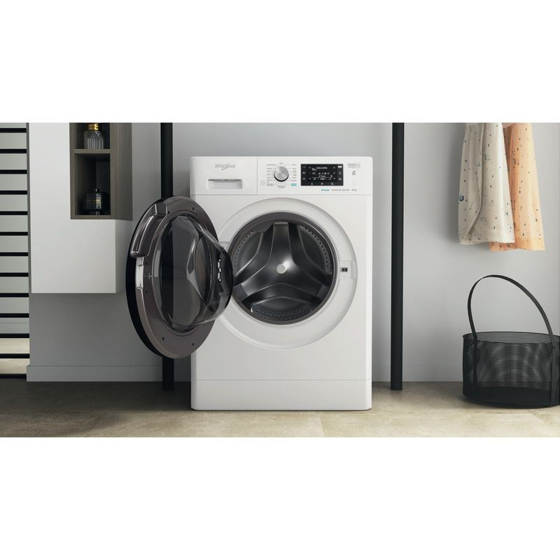 Whirlpool-Lave-linge-Pose-libre-FFDB-9448-BV-FR-Blanc-Lave-linge-frontal-C-Lifestyle-frontal-open