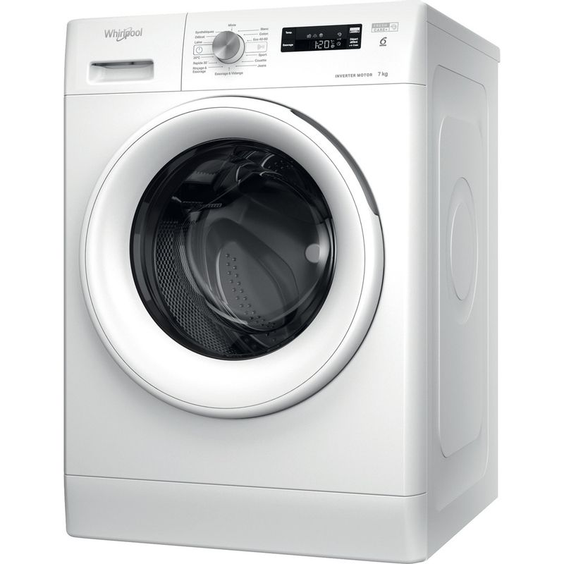 Whirlpool-Lave-linge-Pose-libre-FFS-7438-W-FR-Blanc-Lave-linge-frontal-D-Perspective