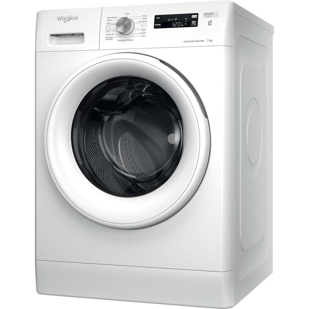 Whirlpool Lave-linge posable FFS 7438 W FR : consultez les spécificités de votre appareil et découvrez toutes ses fonctions innovantes pour votre famille et votre maison.