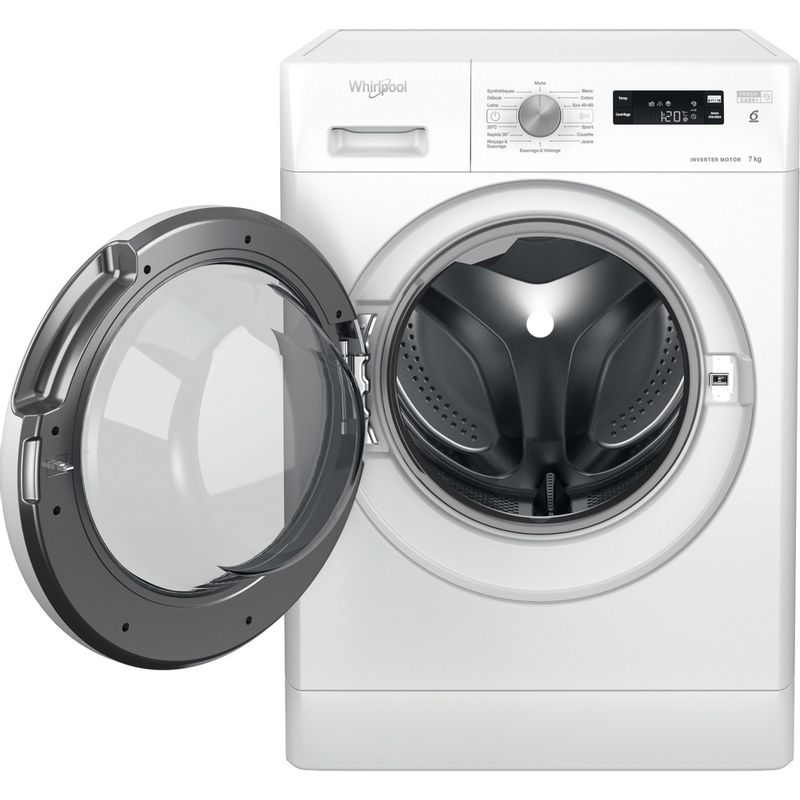 Whirlpool-Lave-linge-Pose-libre-FFS-7438-W-FR-Blanc-Lave-linge-frontal-D-Frontal-open