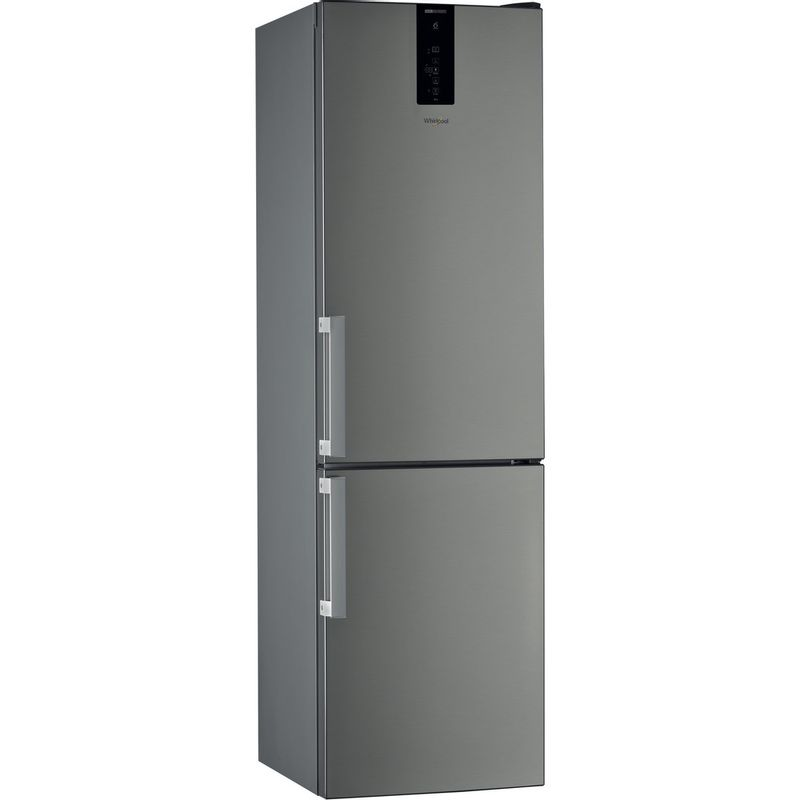 Whirlpool-Combine-refrigerateur-congelateur-Pose-libre-W9-931D-IX-H-Inox-2-portes-Perspective