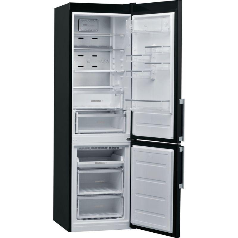 Whirlpool-Combine-refrigerateur-congelateur-Pose-libre-W9-931D-KS-H-Noir-Inox-2-portes-Perspective-open