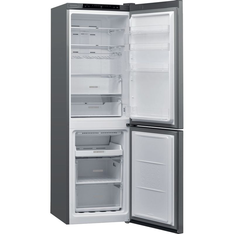 Whirlpool-Combine-refrigerateur-congelateur-Pose-libre-W7-831A-OX-Optic-Inox-2-portes-Perspective-open
