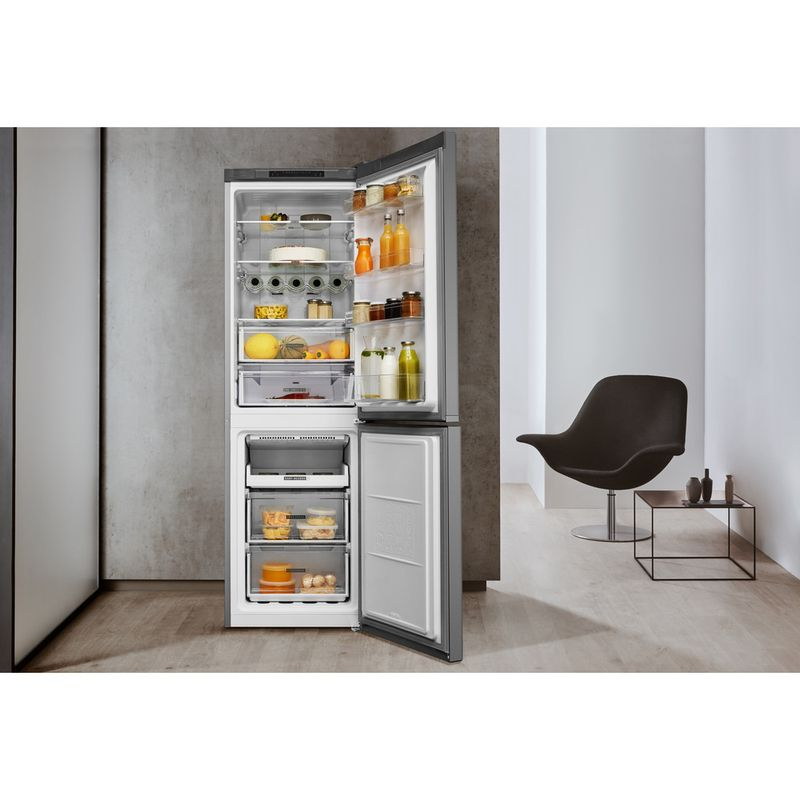 Whirlpool-Combine-refrigerateur-congelateur-Pose-libre-W7-831A-OX-Optic-Inox-2-portes-Lifestyle-frontal-open
