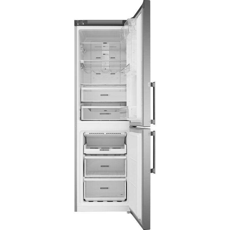Whirlpool-Combine-refrigerateur-congelateur-Pose-libre-W7-832T-MX-H-Miroir-Inox-2-portes-Frontal-open