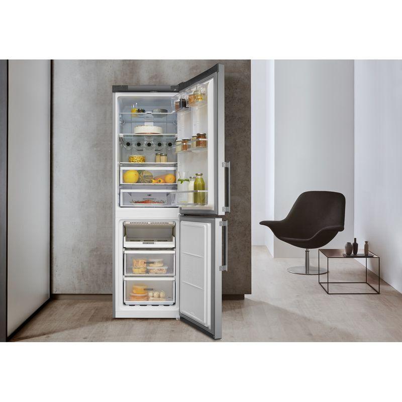 Whirlpool-Combine-refrigerateur-congelateur-Pose-libre-W7-832T-MX-H-Miroir-Inox-2-portes-Lifestyle-frontal-open