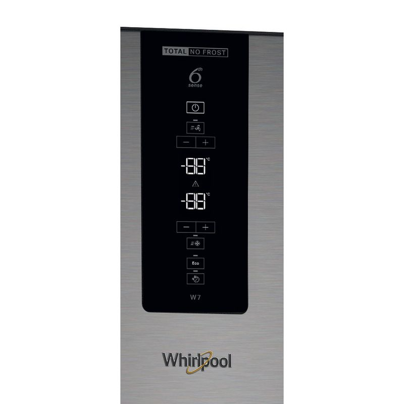 Whirlpool-Combine-refrigerateur-congelateur-Pose-libre-W7-832T-MX-H-Miroir-Inox-2-portes-Control-panel