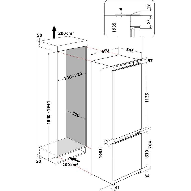 Whirlpool-Combine-refrigerateur-congelateur-Encastrable-SP40-800-1-Blanc-2-portes-Technical-drawing