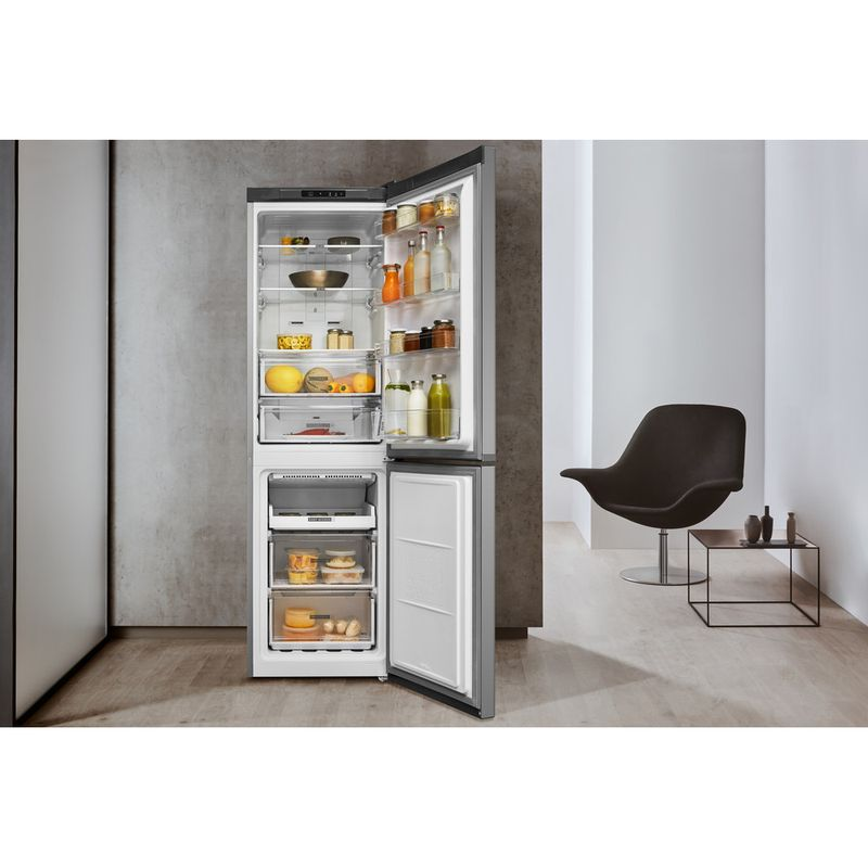 Whirlpool-Combine-refrigerateur-congelateur-Pose-libre-W7-811I-OX-Optic-Inox-2-portes-Lifestyle-frontal-open