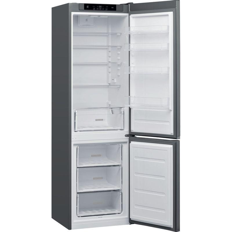 Whirlpool-Combine-refrigerateur-congelateur-Pose-libre-W5-921C-OX-Optic-Inox-2-portes-Perspective-open