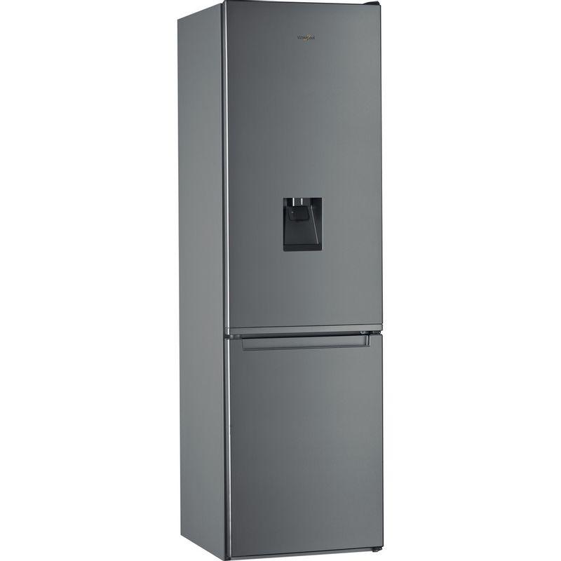 Whirlpool-Combine-refrigerateur-congelateur-Pose-libre-W7-921I-OX-AQUA-Optic-Inox-2-portes-Perspective