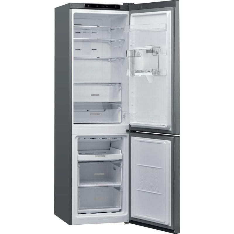 Whirlpool-Combine-refrigerateur-congelateur-Pose-libre-W7-911I-OX-AQUA-Optic-Inox-2-portes-Perspective-open