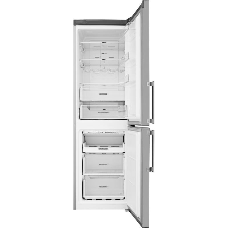 Whirlpool-Combine-refrigerateur-congelateur-Pose-libre-W7-821O-OX-H-Optic-Inox-2-portes-Frontal-open